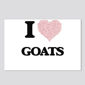 I love Goats (Heart Made Postcards (Package of 8)