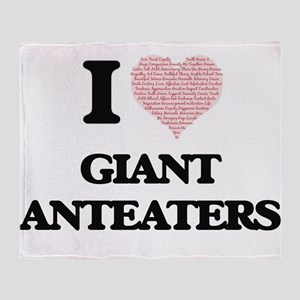 I love Giant Anteaters (Heart Made f Throw Blanket