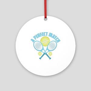 Tennis Racquet Round Ornament