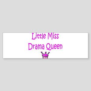 Little Miss Drama Queen Bumper Sticker