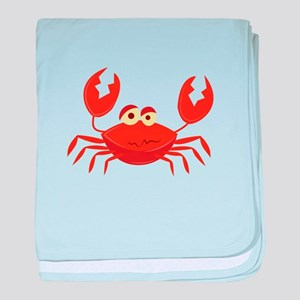 Crab baby blanket