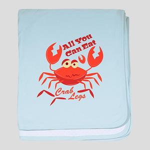 Crab Legs baby blanket