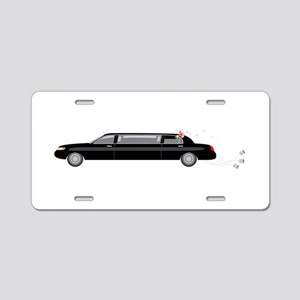Wedding Limousine Aluminum License Plate