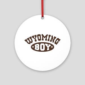 Wyoming Boy Ornament (Round)
