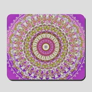 Pretty Hippy pink mandala Mousepad