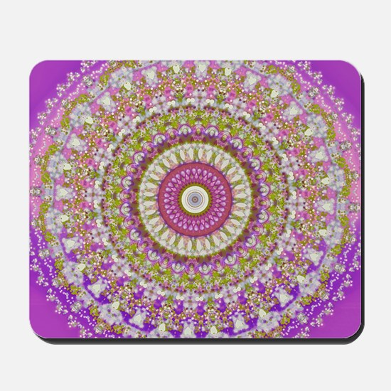 Pretty Hippy pink mandala Mousepad