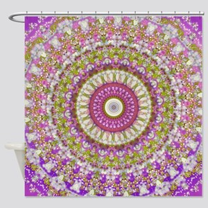 Pretty Hippy pink mandala Shower Curtain