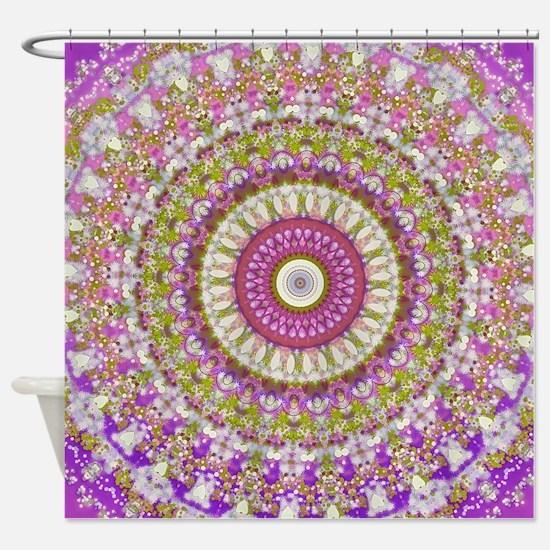 Pretty Hippy pink mandala Shower Curtain