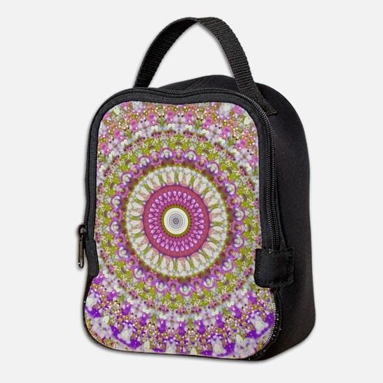Pretty Hippy pink mandala Neoprene Lunch Bag