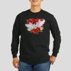 Love doves rose hearth Long Sleeve T-Shirt