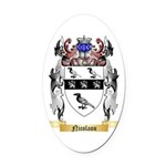 Nicolaou Oval Car Magnet