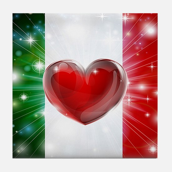 I Love Italy Tile Coaster