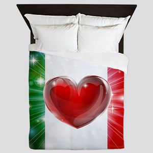 I Love Italy Queen Duvet