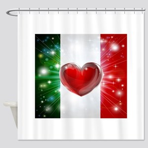 I Love Italy Shower Curtain