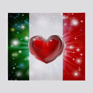I Love Italy Throw Blanket