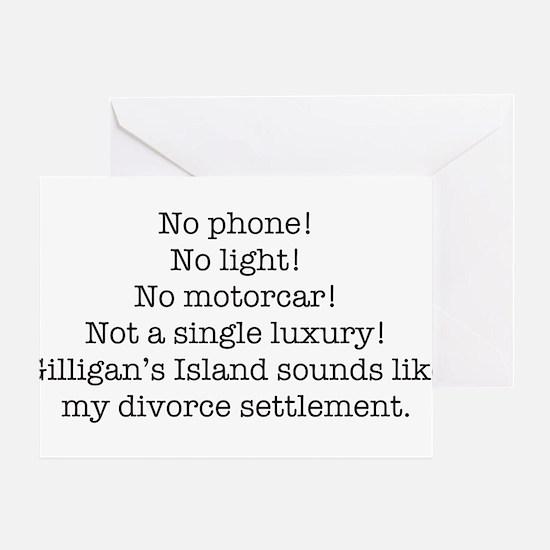 No Phone ... Greeting Card