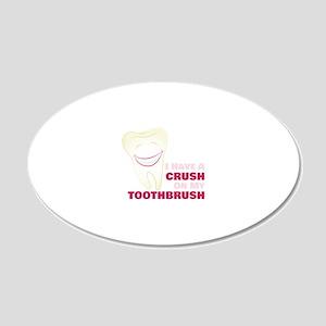 Toothbrush Crush Wall Decal