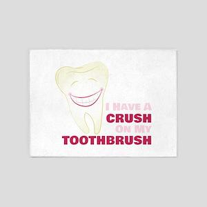 Toothbrush Crush 5'x7'Area Rug