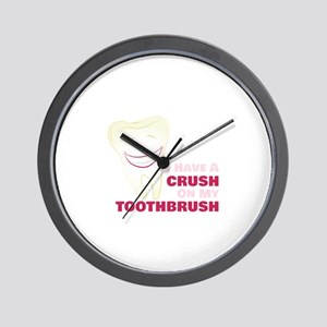 Toothbrush Crush Wall Clock