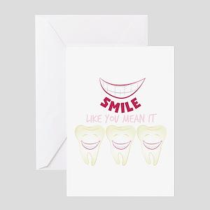 Smile Teeth Greeting Cards