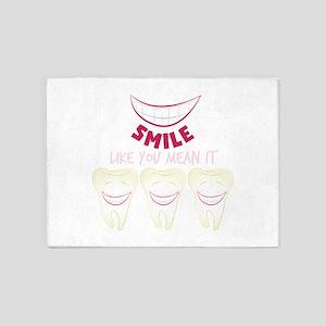 Smile Teeth 5'x7'Area Rug