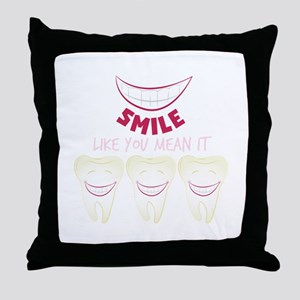 Smile Teeth Throw Pillow