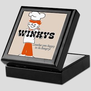 Winkys Hamburgers Logo Keepsake Box
