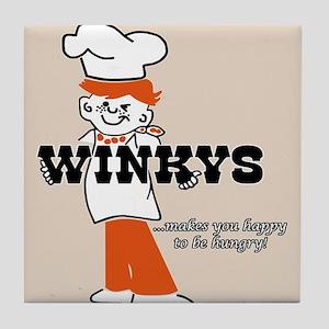 Winkys Hamburgers Logo Tile Coaster