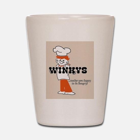 Winkys Hamburgers Logo Shot Glass