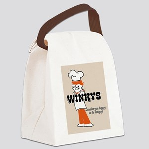Winkys Hamburgers Logo Canvas Lunch Bag