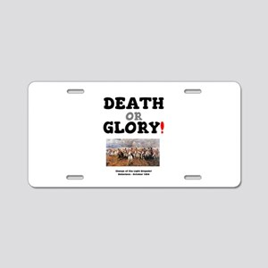 DEATH OR GLORY! - THE CHARG Aluminum License Plate