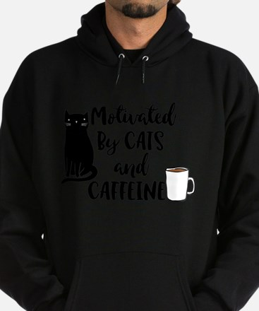 Motivated by cat and Caffine Sweatshirt