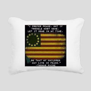 I Prefer Peace Rectangular Canvas Pillow