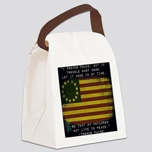 I Prefer Peace Canvas Lunch Bag