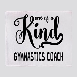 One of a Kind Gymnastics Coach Throw Blanket