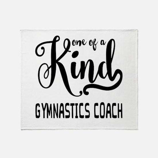 One of a Kind Gymnastics Coach Throw Blanket