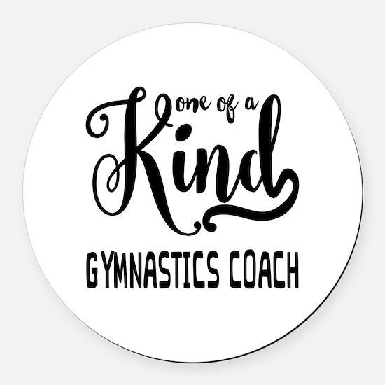 One of a Kind Gymnastics Coach Round Car Magnet