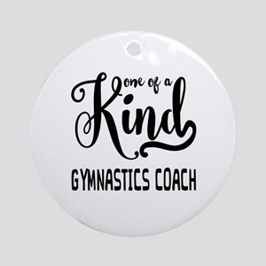 One of a Kind Gymnastics Coach Round Ornament