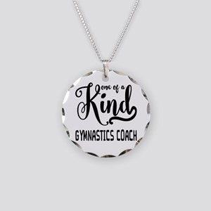 One of a Kind Gymnastics Coa Necklace Circle Charm