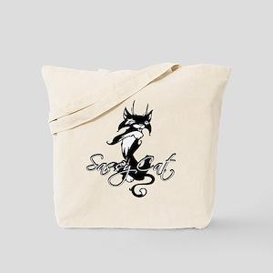 Black Sassy Cat Tote Bag