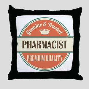 pharmacist vintage logo Throw Pillow