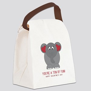 Ton Of Fun Canvas Lunch Bag