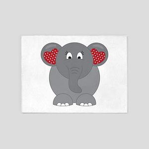 Elephant Love 5'x7'Area Rug