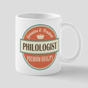 philologist vintage logo Mug