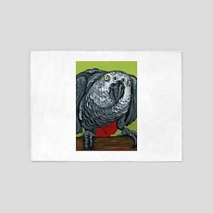 African Grey Parrot 5'x7'Area Rug