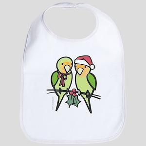 lovebirds_santa Baby Bib
