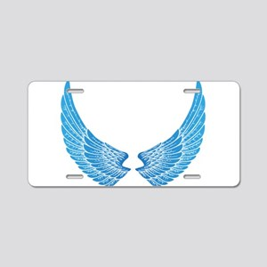 Angel wings Aluminum License Plate