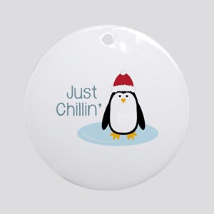 Just Chillin Round Ornament