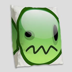 Emoticon emotions Burlap Throw Pillow