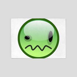 Emoticon emotions 5'x7'Area Rug